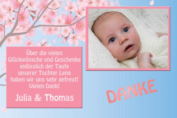 Danksagungskarten Nach Der Taufe Killefit Photo Cards