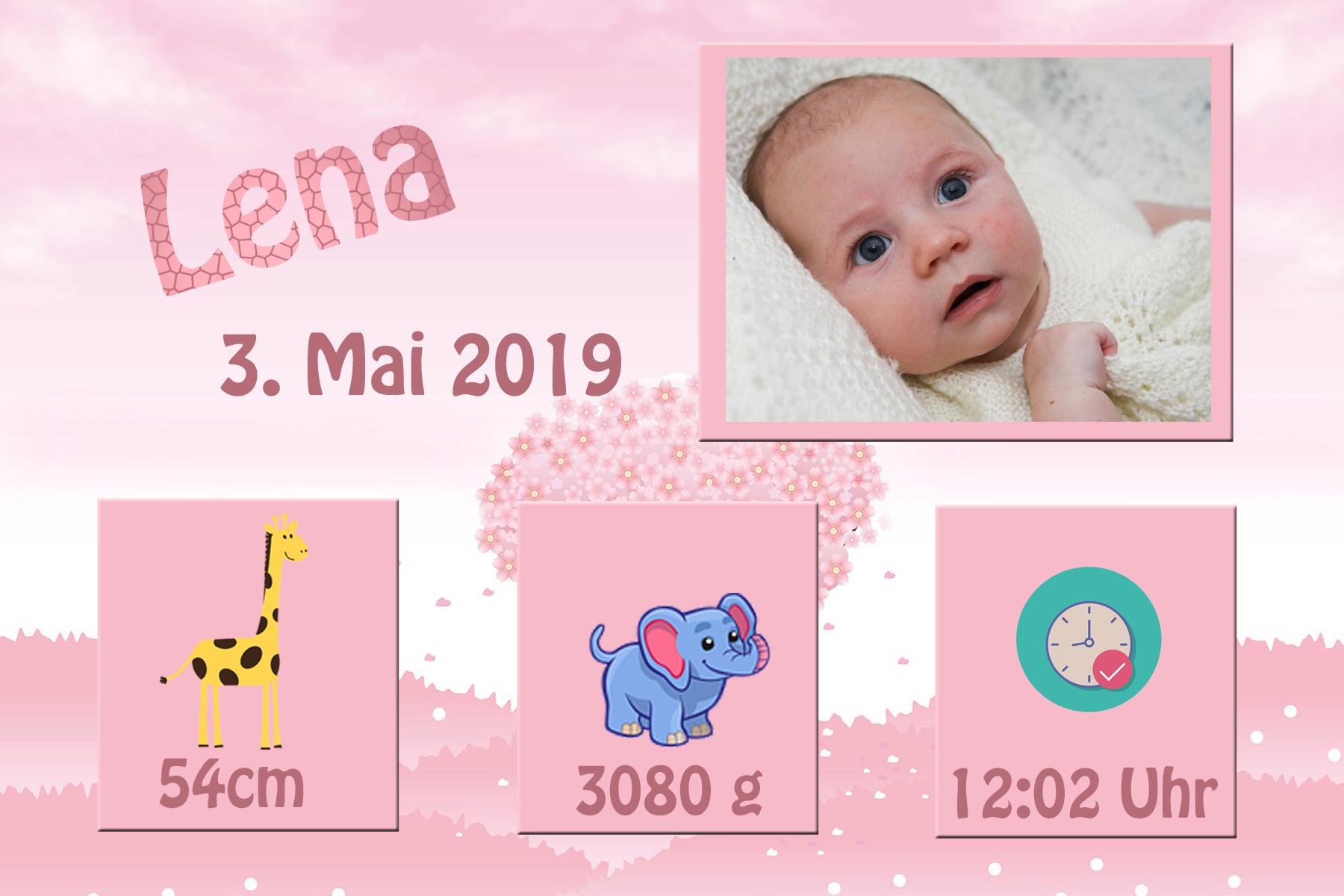 Dein Foto - Danksagung Karte Geburt Baby Danksagungskarten ...