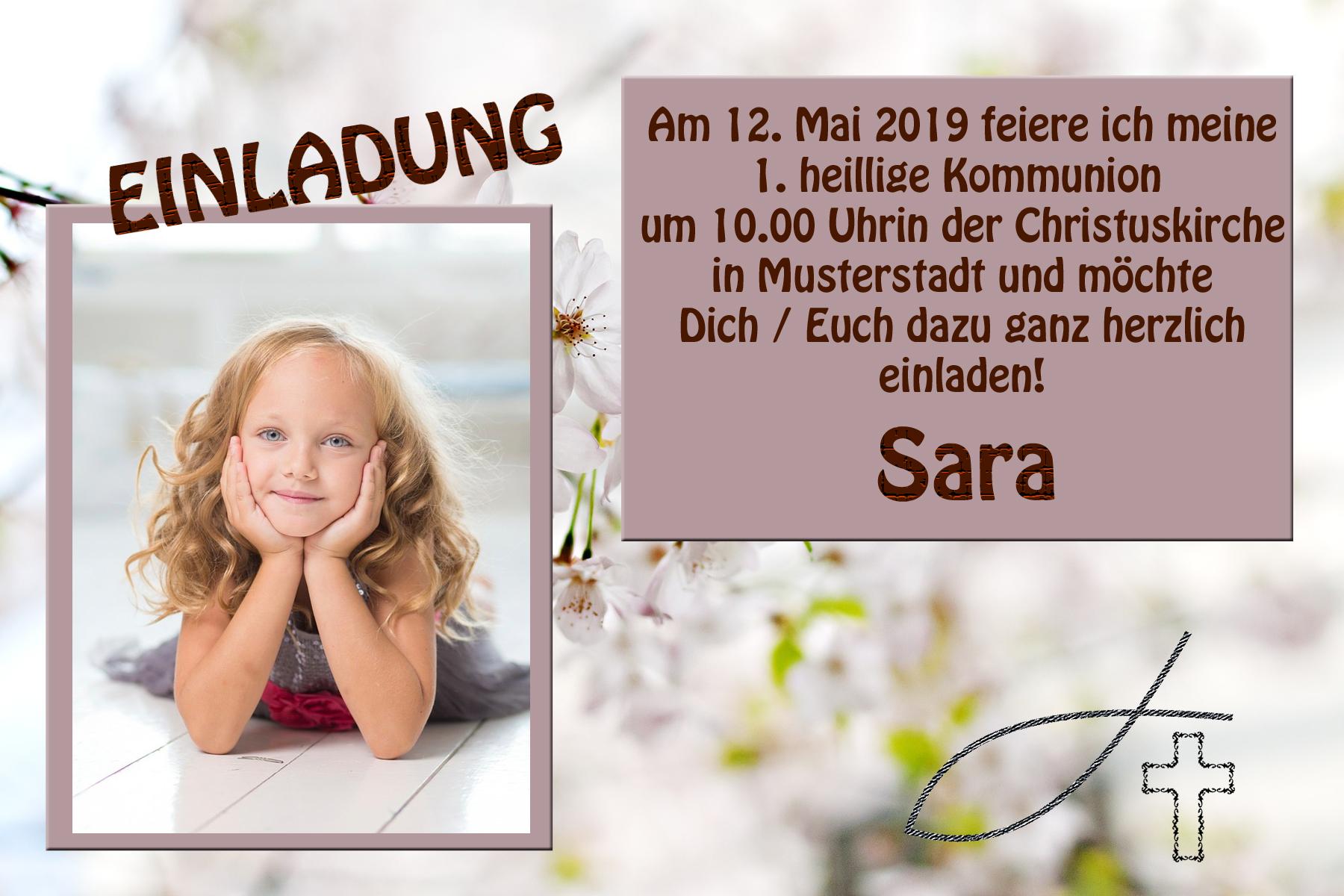 foto einladungskarten kommunion - design 5 - killefit